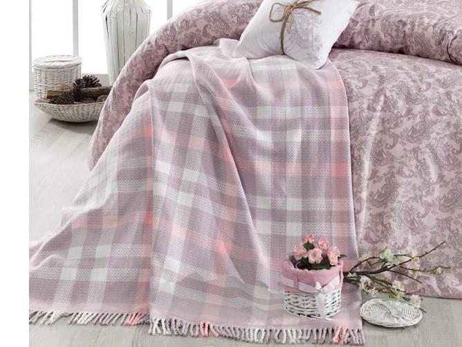 """Постельное белье с пледом """"Arya"""" Squart Dry Rosa  (сухая роза)"""