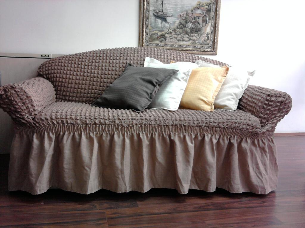 """Чехол на диван и кресла """"Arya"""" Burumcuk Слоновая кость"""