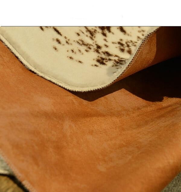шкура коровы Homytex Бело-коричневая образец