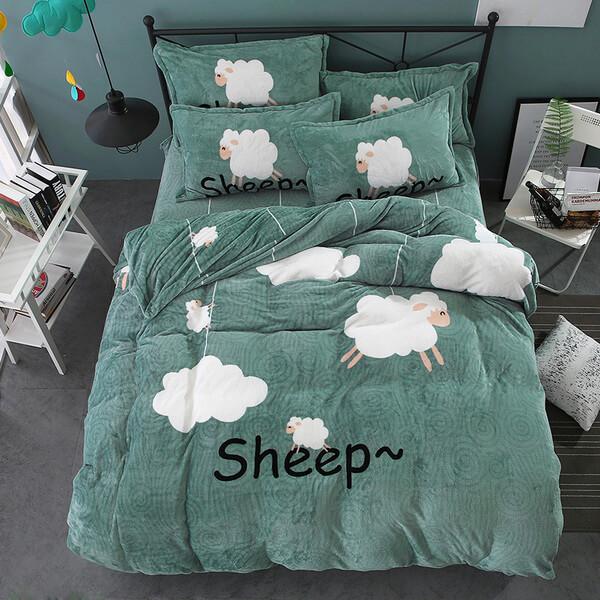 """Постельное белье """"HomyTex"""" фланель-микрофибра Sheep"""