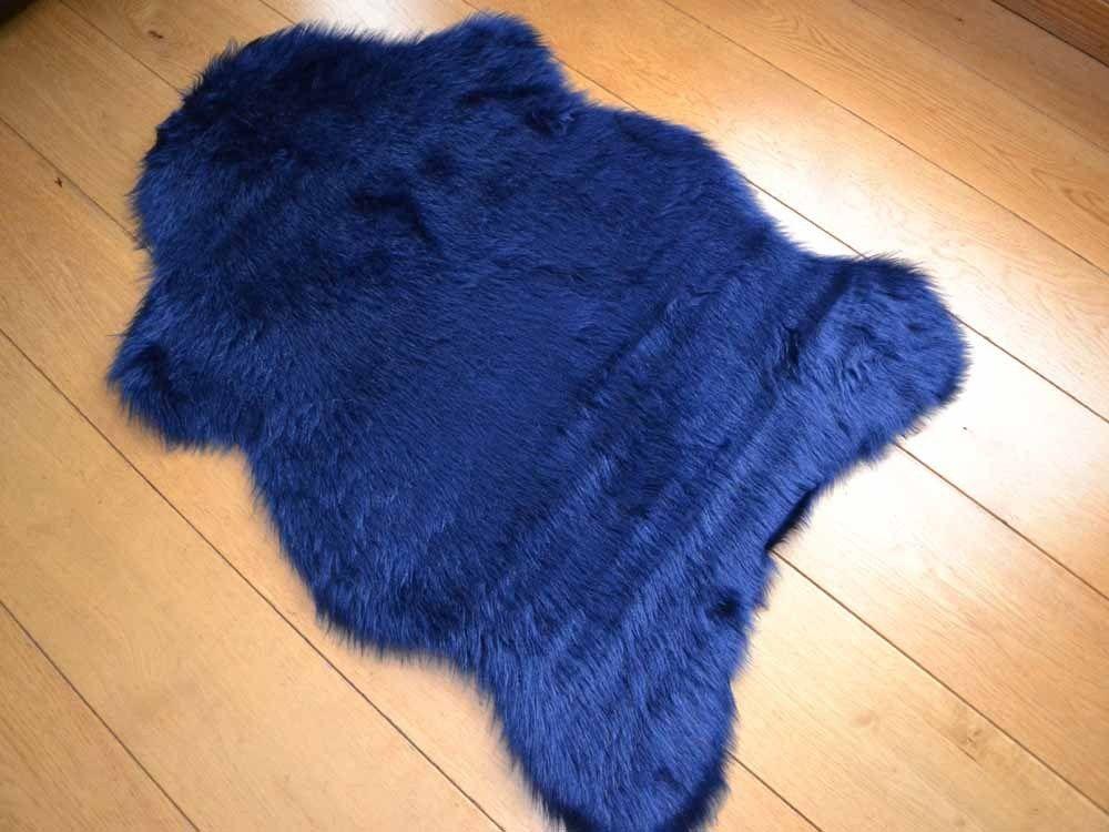 Овечья шкура крашенная синяя