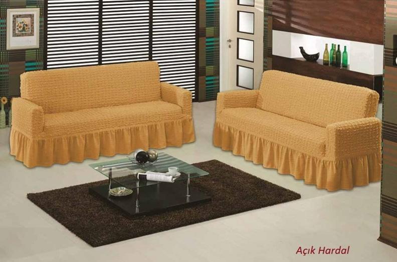 """Чехлы на диваны и кресла """"Arya"""" Burumcuk Светло-горчичный"""