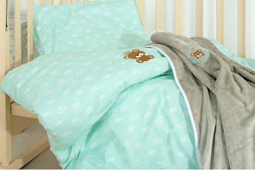 """Детское постельное белье с пледом """"Идея"""" Корона Ментол"""