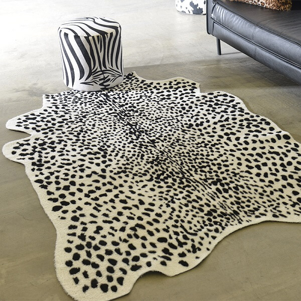 Шкура коровы Homytex Леопард бело-черный