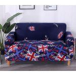 """Чехол на кресло """"HomyTex"""" с рисунком Британия синяя"""