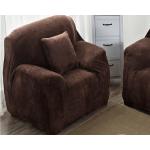 Чехол для кресла HomyTex универсальный замшевый шоколадный