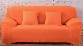 """Чехол на трехместный диван """"HomyTex"""" (образец ткани Синий)"""