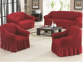 """Чехлы на диваны и кресла """"Arya"""" Burumcuk Бордовый"""