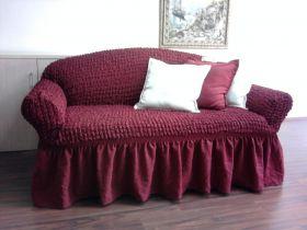 """Чехол на диван и кресла """"Arya"""" Burumcuk Бордовый"""