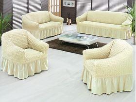 """Чехлы на диваны и кресла """"Arya"""" Burumcuk Кремовый"""
