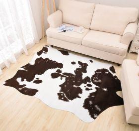 """Ковер из искусственной кожи """"HomyTex"""" Корова Темно-коричневая"""