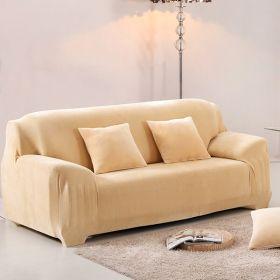 Чехол на диван HomyTex двухместный замшевый Бежевый (образец)