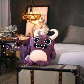 """Детский плед-игрушка тм""""Homytex"""" 3 в 1 Рогатый зверек фиолетовый"""