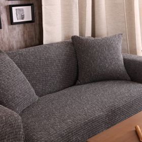 Чехол на кресло HomyTex трикотажный Серо-черный