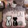 """Постельное белье """"HomyTex"""" фланель-микрофибра Cool cat pink"""