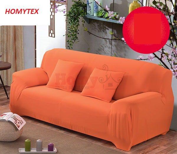 "Чехол на трехместный диван ""HomyTex"" Оранжевый"