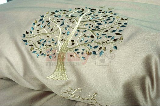 """Постельное белье """"Идея"""" с вышивкой Дерево"""