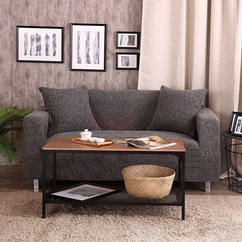 Чехол на диван HomyTex трикотажный Серо-черный